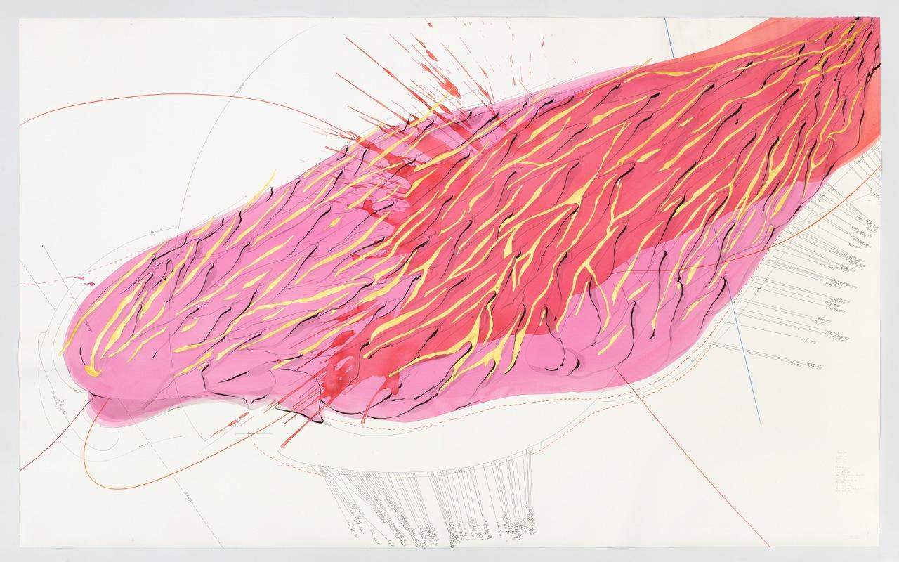 Jorinde Voigt, Hauro (I), 2015, diverse Materialien auf Papier, Courtesy the artist